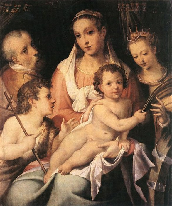 PASSEROTTI Bartolomeo Holy Family With The Infant St John The Baptist And St Catherine Of Alexandria. Итальянские художники
