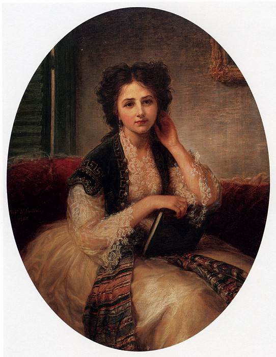 Amiconi Bernardo Mademoiselle Helene Cassavetti Three Quarter Length. The Italian artists
