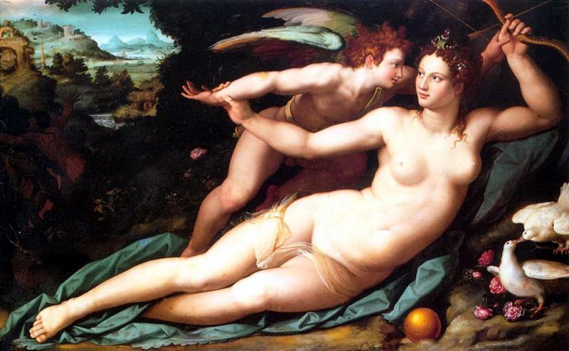 ALLORI Alessandro Venus And Cupid. The Italian artists