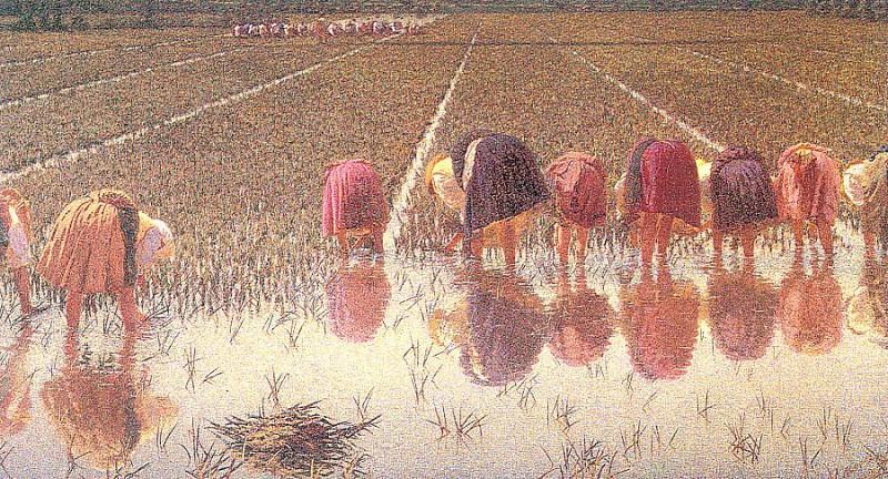 Morbelli, Angelo (Italian, 1853-1919) 2. The Italian artists