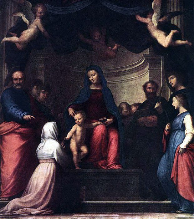 BARTOLOMEO Fra The Marriage Of St Catherine Of Siena. The Italian artists