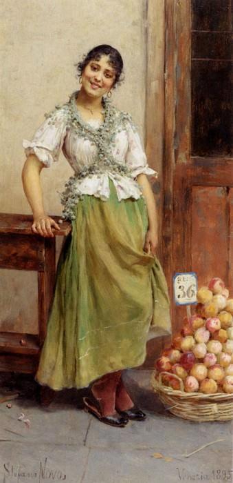 Novo Stefano The Peach Seller. The Italian artists