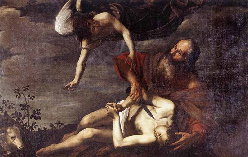 RIMINALDI Orazio Sacrifice Of Isaac. The Italian artists