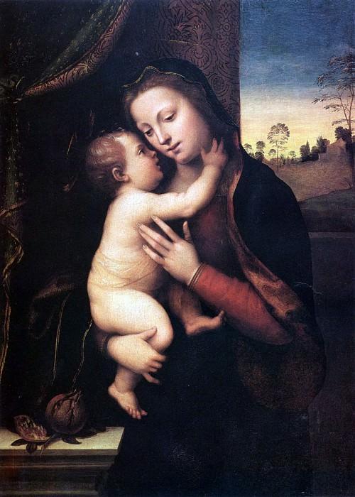 Мариотто Альбертинелли Мадонна с Младенцем. Итальянские художники