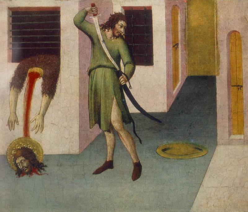 SANO di Pietro Beheading Of St John The Baptist. Итальянские художники