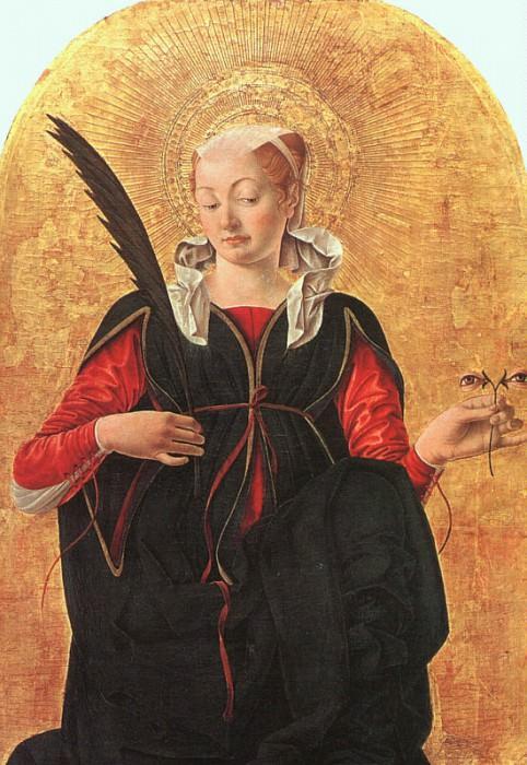 Франческо дель Косса (итальянец, 1435-1477) Святая Люция. Итальянские художники