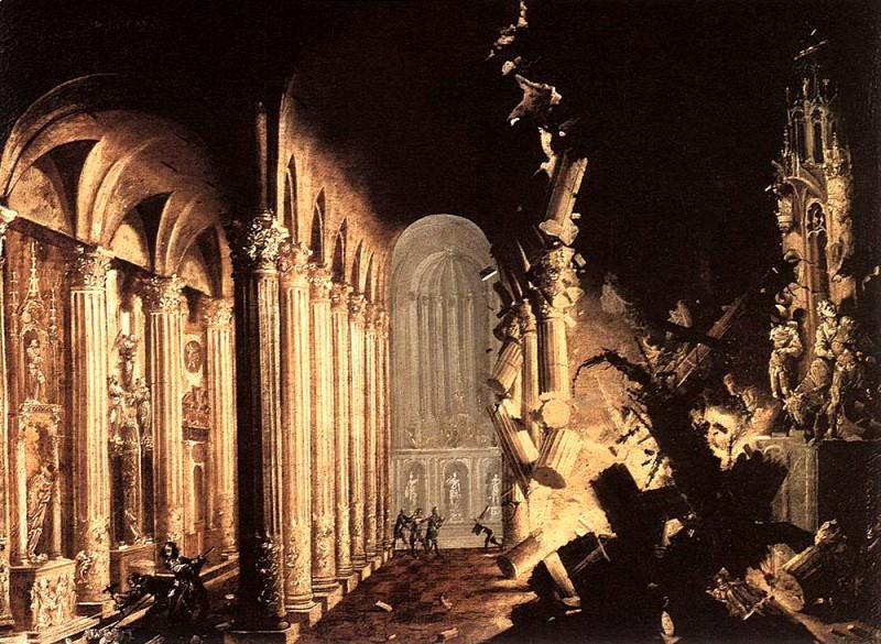 NOME Francois de King Asa Of Juda Destroying The Idols. The Italian artists