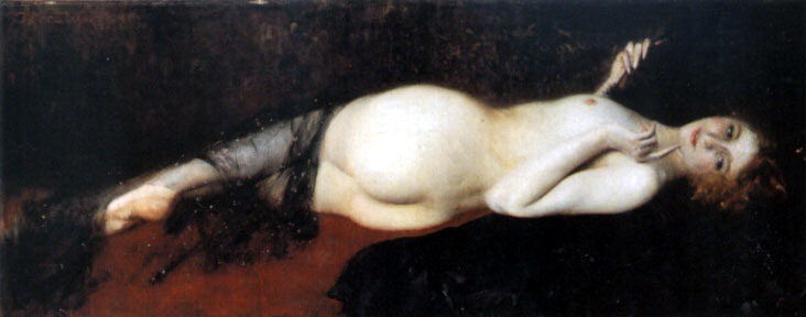 A Reclining Nude 1. The Italian artists