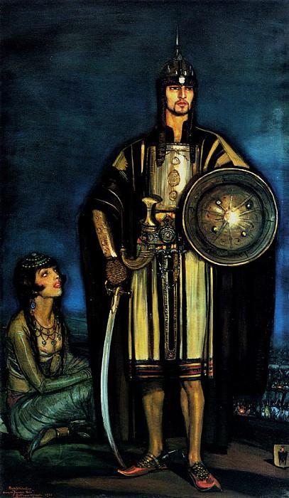 Beltran Masses Frederico Rudolph Valentino In The Black Falcon. The Italian artists