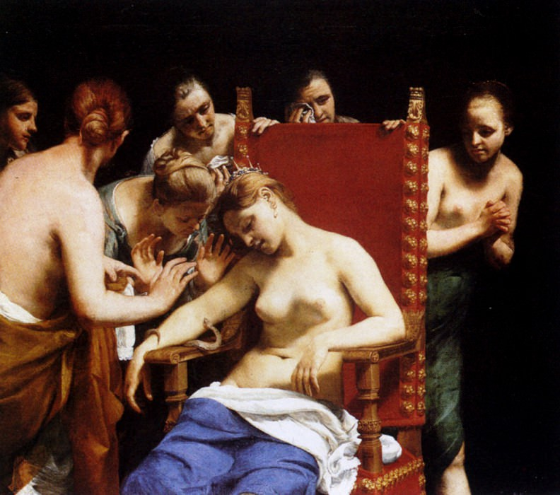 Cagnacci Guido The Death Of Cleopatra. The Italian artists