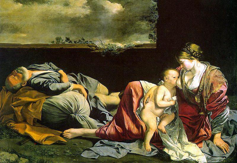 Gentileschi, Orazio (Orazio Lomi, Italian, approx. 1563-1639) ogentileschi3. The Italian artists