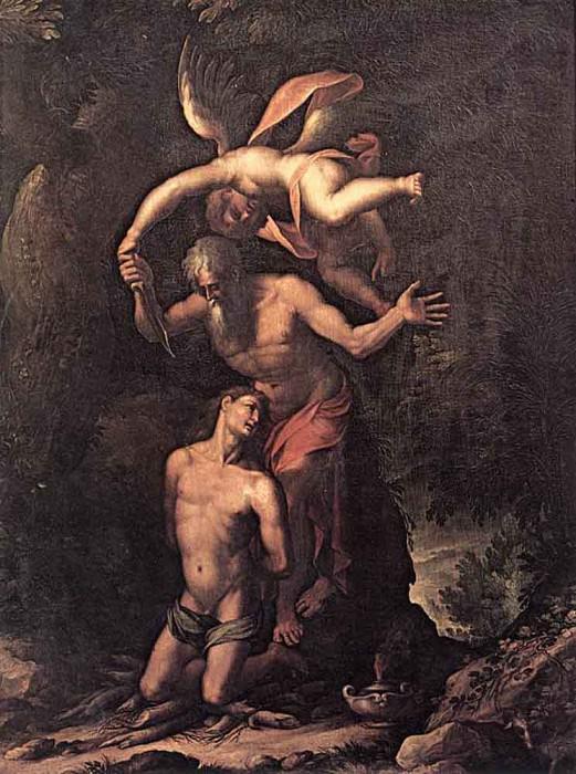 LIGOZZI Jacopo Sacrifice Of Isaac. The Italian artists