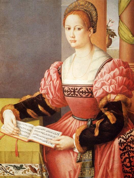 Bacchiacca Francesco Ubertini Portrait Of A Lady. The Italian artists