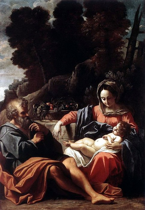 BADALOCCHIO Sisto The Holy Family. The Italian artists