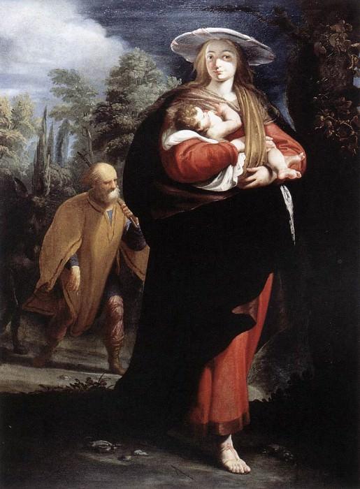 ANSALDO G Andrea The Flight Into Egypt. The Italian artists