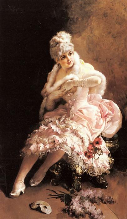 Tojetti Virgilio The Masquerade. The Italian artists