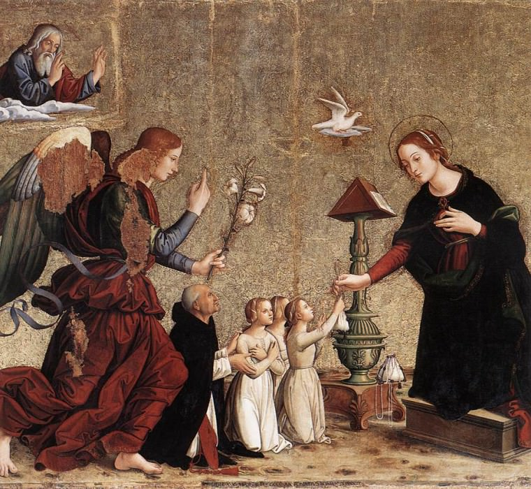 ANTONIAZZO ROMANO Annunciation. The Italian artists