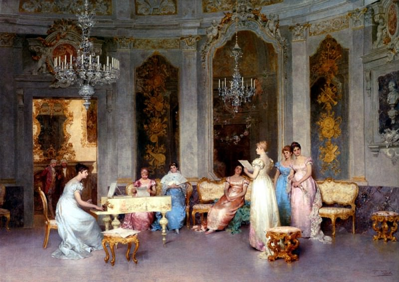 Beda Francesco Parlor Scene. The Italian artists