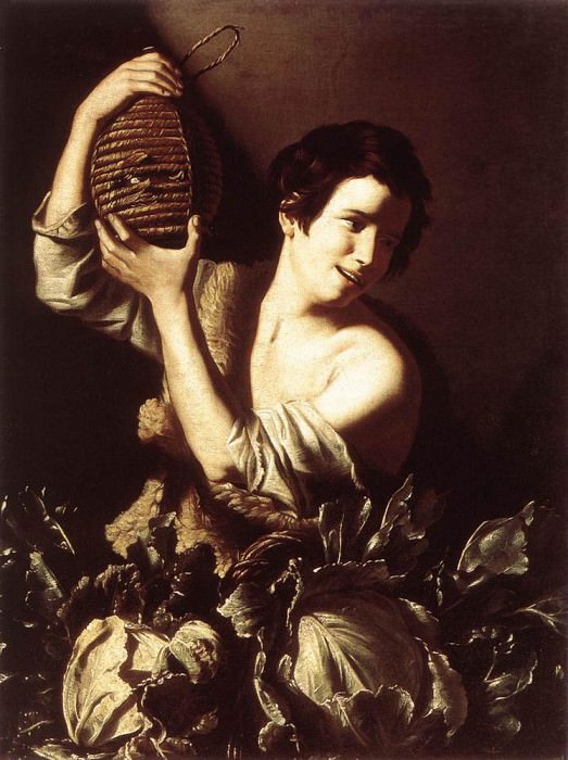 SALINI Tommaso Boy With A Flask And Cabbages. Итальянские художники
