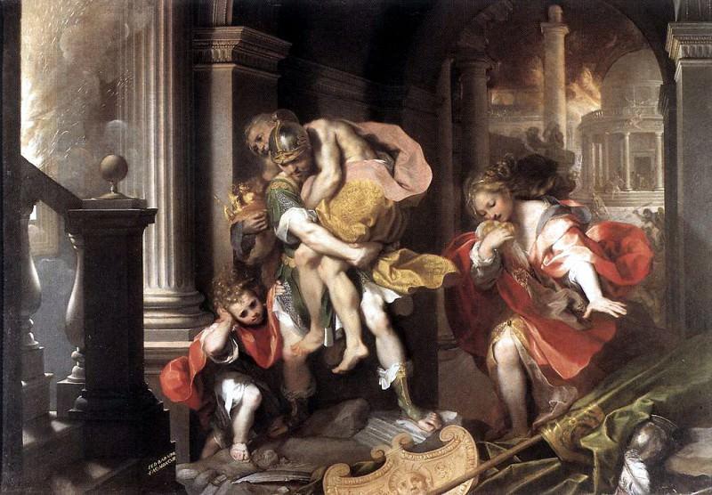 BAROCCI Federico Fiori Aeneas Flight From Troy. The Italian artists