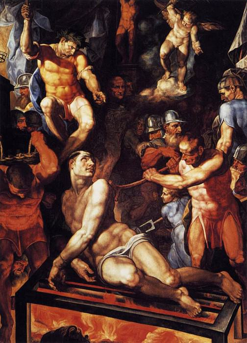 TIBALDI Pellegrino Martyrdom Of St Lawrence. The Italian artists