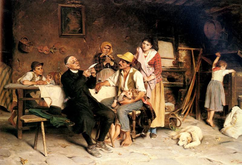 Becchi Luigi The Letter. The Italian artists