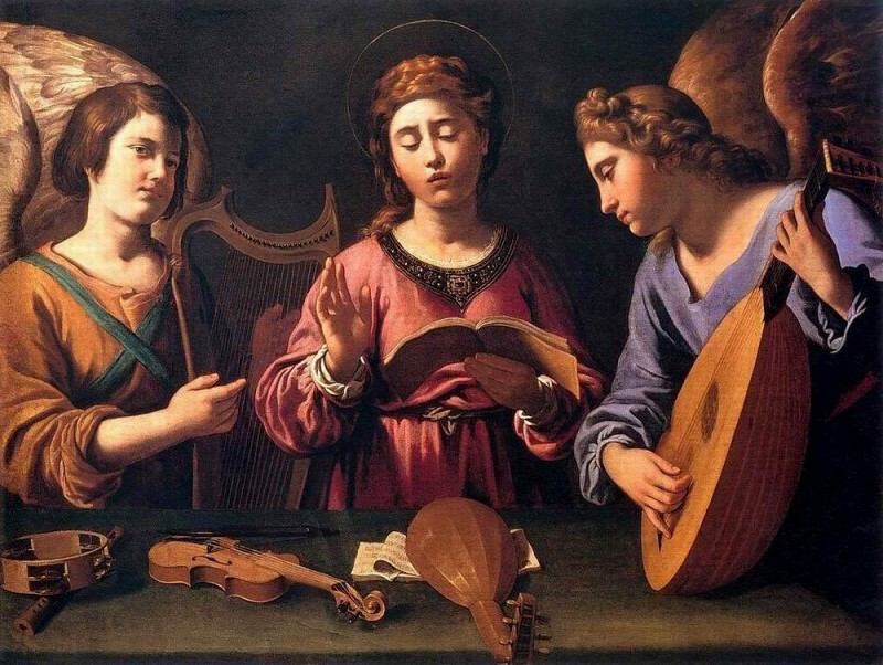 GRAMATICA Antiveduto St Cecila with Two Angels. The Italian artists
