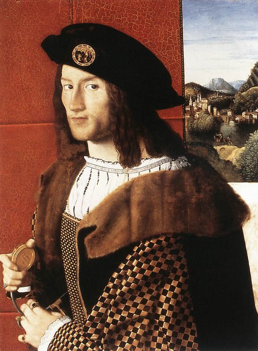 BARTOLOMEO VENETO Portrait Of A Gentleman. Итальянские художники