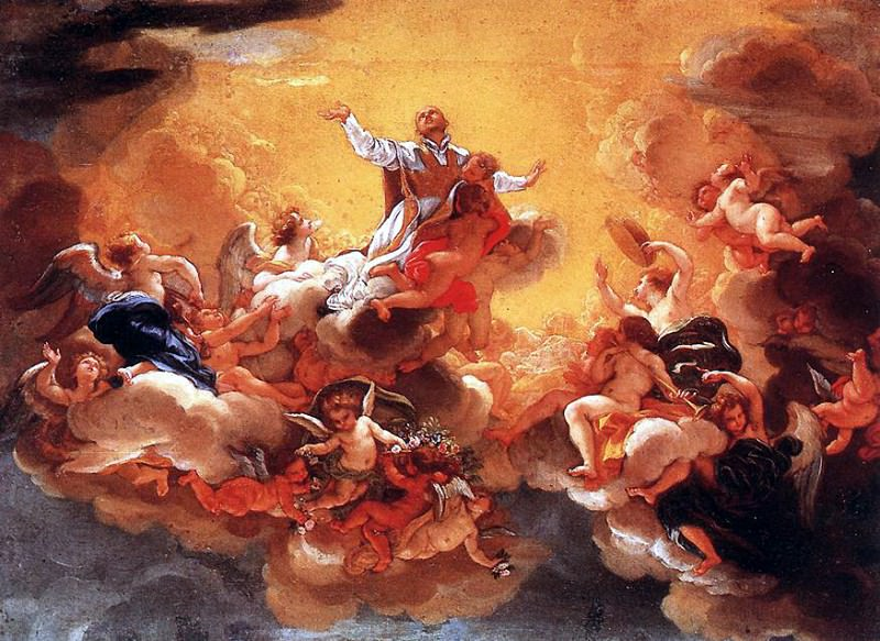 BACICCIO Apotheosis Of St Ignatius. The Italian artists