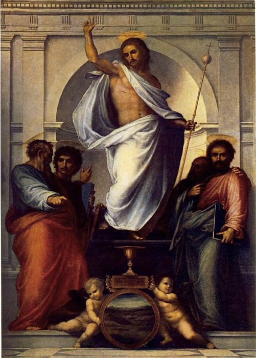 BARTOLOMEO Fra Christ With The Four Evangelists. The Italian artists