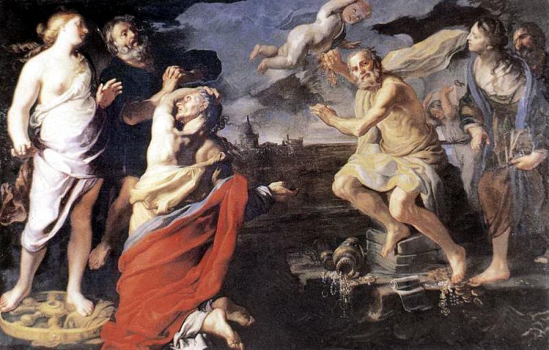 MEI Bernardino Allegory Of Fortune. The Italian artists