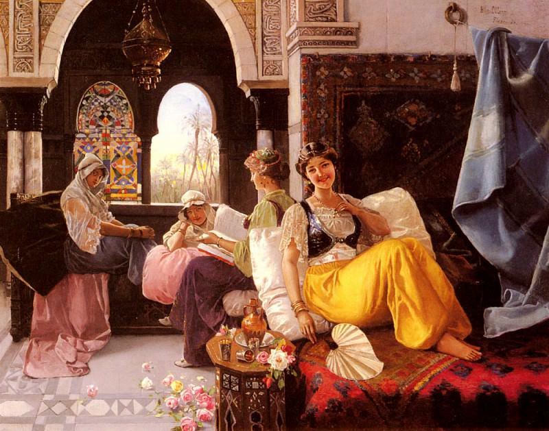 Quintana Blas Olleras y A Harem Scene. Итальянские художники