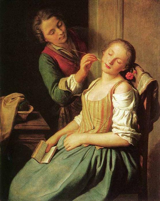 ROTARI Pietro Antonio Sleeping Girl. The Italian artists
