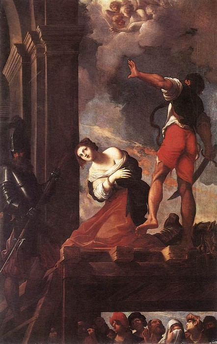 Carracci Lodovico The Martyrdom of St Margaret. The Italian artists