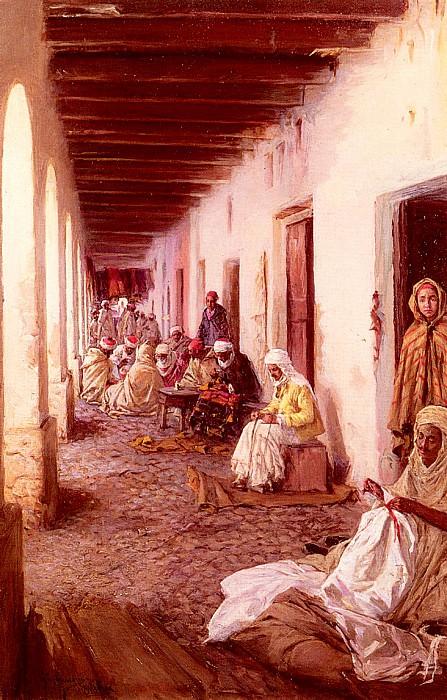 Simoni Gustavo A Street In Baskra Alegria. The Italian artists