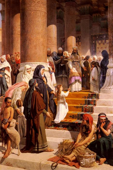 Piatti Prosper The Presentation Of The Virgin. The Italian artists