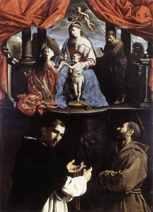 PAOLINI Pietro The Mystic Marriage Of St Catherine Of Alexandria. The Italian artists