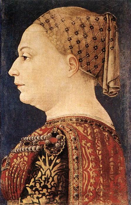 BEMBO Bonifazio Portrait Of Bianca Maria Sforza. The Italian artists