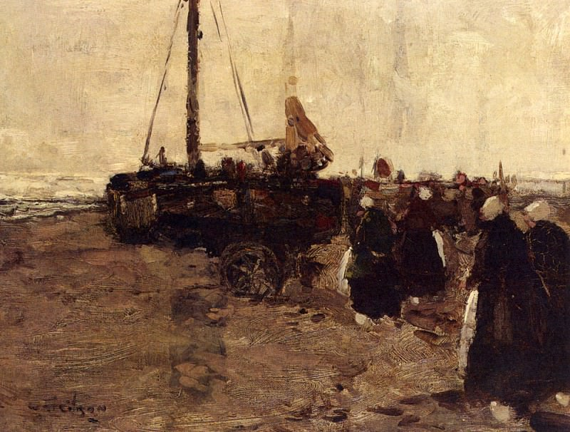 Gibson William Alfred The Return Of The Fishing Boats. The Italian artists
