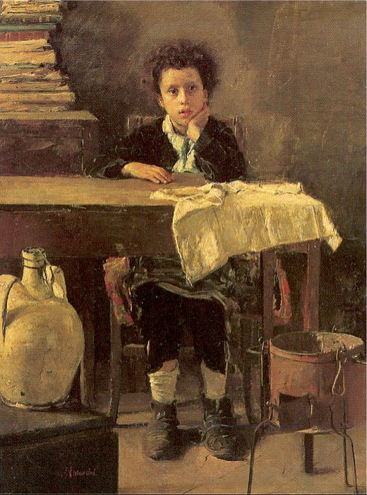 Mancini, Antonio (Italian, 1852-1930). The Italian artists