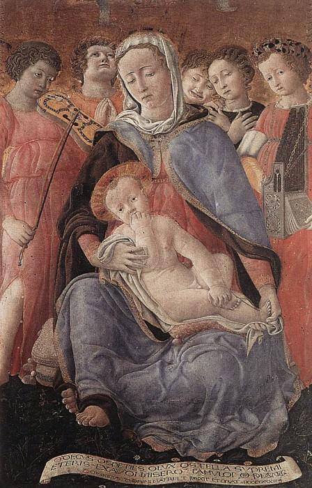 DOMENICO di Bartolo Madonna of Humility. The Italian artists