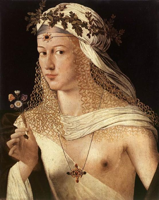 BARTOLOMEO VENETO Portrait Of A Woman. The Italian artists