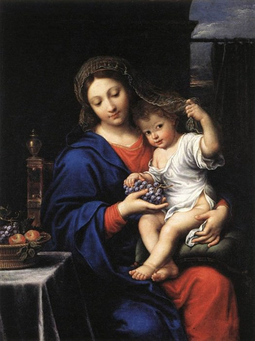 MIGNARD Pierre The Virgin Of The Grapes. The Italian artists