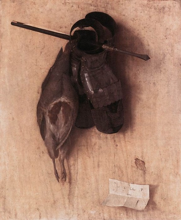BARBARI Jacopo de Still life With Partridge And Iron Gloves. Итальянские художники