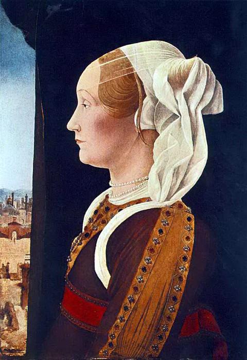 ROBERTI Ercole de Portrait Of Ginevra Bentivoglio. Итальянские художники