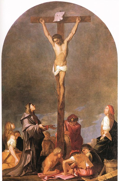 CARPIONI Giulio Crucifixion. The Italian artists