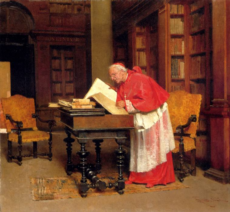 Bedini Paolo The Cardinal In His Study. The Italian artists