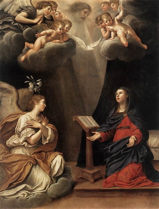 ALBANI Francesco The Annunciation. The Italian artists