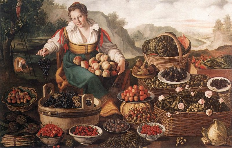 CAMPI Vincenzo The Fruit Seller. The Italian artists