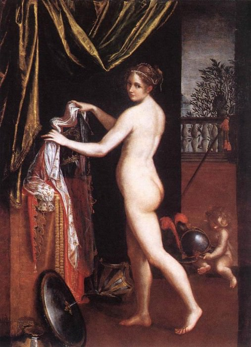 FONTANA Lavinia Minerva Dressing. The Italian artists